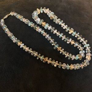Jewelry - Sparkly pastel colored glass beaded necklace